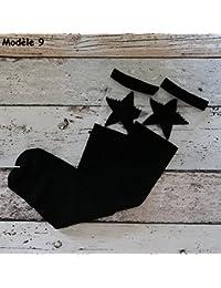Calcetines altas montantes bebés niños, 12variantes 1A 10Años S (1/3años), M (3/6años), L (6/10años)