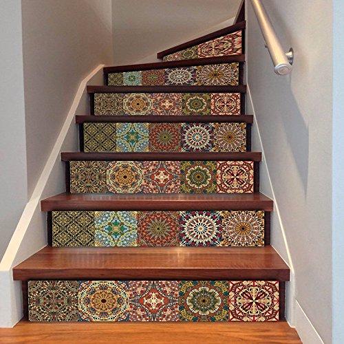 lzzfw Wandaufkleber Kreativ Nahost Arabisch Stil Haus Dekoration Schritte Korridor Treppenhaus Aufkleber