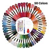 Stickgarn, BASEIN 50 Stränge Cross Stitch Threads Farbe Floss, Freundschaftsbänder, Handwerk Floss Nähgarn Kit
