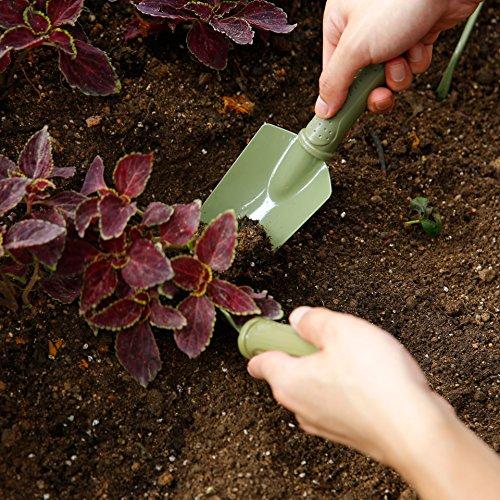 Worth Garden Pala de jardinería con Mango de Acero al Carbono Cabeza y PE