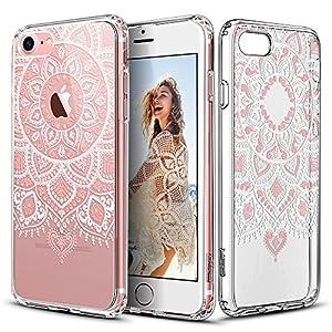 Capa para iPhone 7com mandala Dalia Rosa