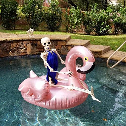 Giant Flamingo Pool Float, GOOBAT Aufblasbare Schwimmbecken Raft Lounge Spielzeug, Rose Gold, 130 x 130 x 100 cm