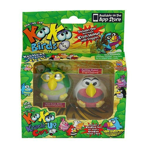 TWIN PACK KOO KOO BIRDS IN USE WITH KOO KOO CRACK UP CARS by Jay At Play