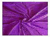 Fabrics-City VIOLETT HOCHWERTIG PAILETTEN STOFF PAILLETTENSTOFF 6MM STOFFE, 2429