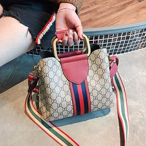 LFGCL Taschenfrau Neue alte Blume große Kapazität breiter Schultergurt Umhängetasche Sen Department Fairy Bag Generation, Redbags