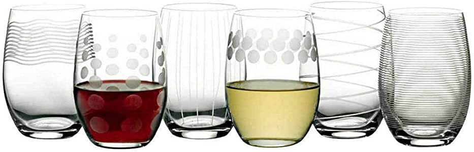 Mikasa Cheers Stemless Etched Wine