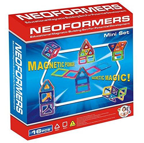 KLEIN Design Blocs de Construction magnétique de Haute qualité de Neoformers - Mini Set - 16 Pièces pour Enfant à partir DE 3 Ans.