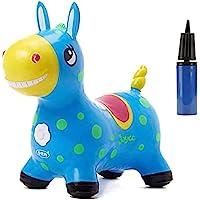 NC Cavallo Gonfiabile Pompa Inclusa tramoggia per Cavalli Gonfiabile, Cavallo da Salto, sdraietta Gonfiabile, tramoggia…