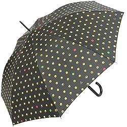 happy rain Long AC - Clásico negro black-allover 102 cm