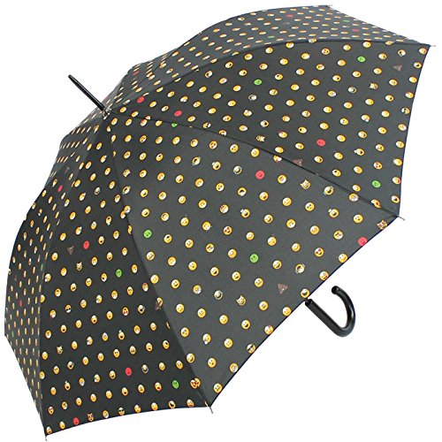 Happy rain Long AC - Clásico negro black-allover