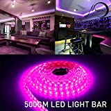 led strip,MIHAZ SMD 5050 led strip lights,16.4ft 5M 300 LED Ribbon Light, Tape LED Pink led strips lighting, Waterproof Outdoor Light Strip for Gardens Homes Bars Car Styling Kitchen Cabinet DIY Party Decoration(5M 5050 SMD Pink Strip ONLY)