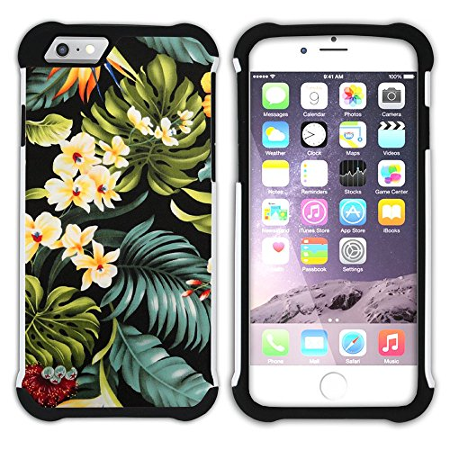 Graphic4You Hawaiisch Hawaii Postkarte Hart + Weiche Kratzfeste Hülle Case Schale Tasche Schutzhülle für Apple iPhone 6 Plus / 6S Plus Design #4