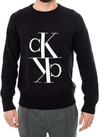 Calvin Klein Jeans Men's Mirrored Monogram Cn Sweater