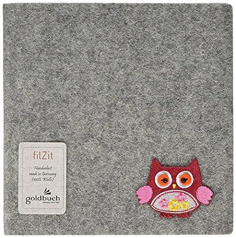 Goldbuch album de poésie 'Fleur', couverture feutrine gris souris, 16.5x16.5 cm, 96 pages, 41139