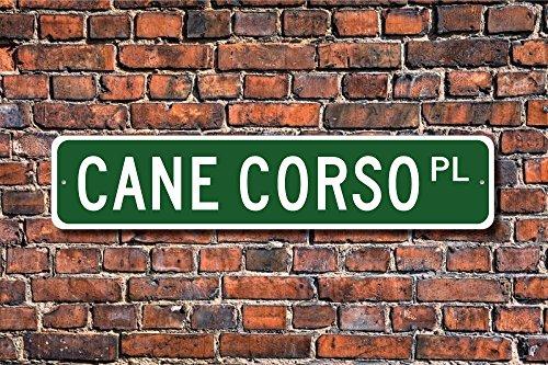 Aersing Metall Schild Post Cane Corso Schild Hundeliebhaber Geschenk Hund Inhaber Geschenk Schild Hund Inhaber Wand Home Dekoration Straßenschild