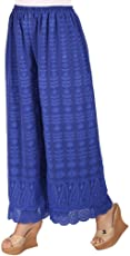 Ayesha Creations Womens Cotton Chikan Afghani Palazzo Pants from