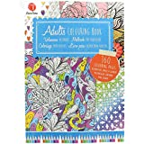 160 Page Adult Colouring Book with Creative Art Therapy Patterns for Anti-Stress