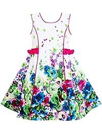 Sunny Fashion - Vestido con estampado floral para niña multicolor