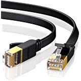 UGREEN Ethernet Cable Cat7 RJ45 Network Patch Cable Flat 10 Gigabit 600Mhz Lan Wire Cable Cord Shielded Compatible for Modem,