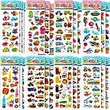 LISOPO 3D Aufkleber für Kinder Sammelaufkleber für Mädchen, Jungen, Lehrer, Kleinkinder, einschließlich Tiere, Sterne, Fische,