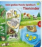 Mein großes Puzzle-Spielbuch: Tierkinder