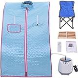 Portable Sauna Tent With Chair 2L Sauna Portable Pot Sauna Bath Box Realxing Body Sauna Steam Cabin Home Spa, UK Plug…