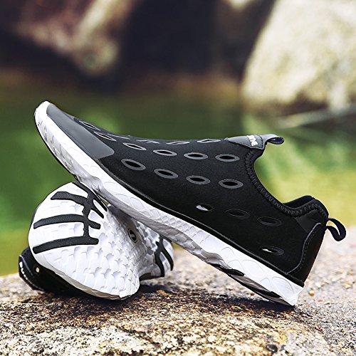 Scarpe Uomo Acqua Leggera Walking scarpa da tennis Spiaggia Piscina Pesca Canottaggio Casual Shoes Calzature Nero