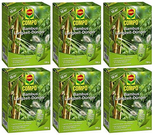 Oleanderhof® Sparset: 6 x COMPO Bambus Langzeit Dünger, 700 g + gratis Oleanderhof Flyer
