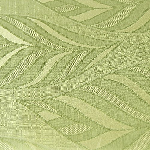 Just Contempo Leaf Pencil Pleat Lined Curtains, Green, 90x90 inches