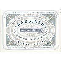 Albert Ménès Sardines à l'huile d'olive vierge extra La boite de 87g - Prix Unitaire - Livraison Gratuit Sous...