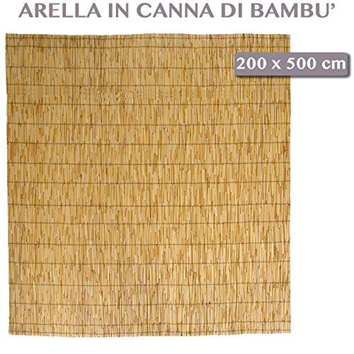 Arella Bamboo de exterior jardín limpia para muebles exterior piscina 200x 500cm