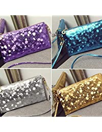 d502b5db90cdb XZDCDJ Mode Frauen Abend Party Clutch Bag Make-Up Tasche Pailletten  Funkelnde Bling Geldbörse