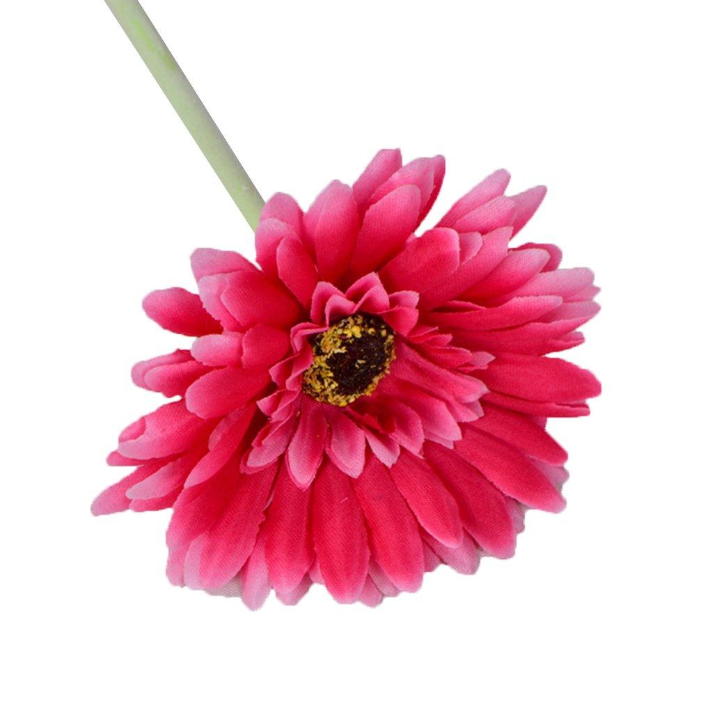 Zerama 2pcs Flores Artificiales Decoraciones caseras Margarita Africana Falsa con 7 Capas