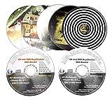 50 CD-R 700 MB Glossy weiß inkl. Bedruckung, mit eigenem Bild und Text bedruckte CD Rohlinge wisch- und kratzfest in UV-Druck