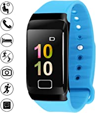 BigOwl Men's and Women's SmartWatch with Fitness Tracker (Blue)