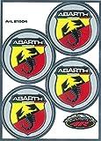 Abarth 21504Set 4Aufkleber scudetti Durchmesser 48