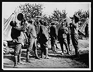 POSTER West Indian regiment in their camp, France, during World War I I. Hal Scotland Wall Art Print A3 replica