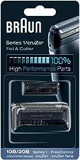 Braun Elektrorasierer Ersatzscherteil 10B/20B, kompatibel mit cruZer und Series 1 Rasierern, schwarz