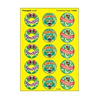 60 x Frolicking Frogs Scratch and Sniff Stickers (Pineapple Scented)