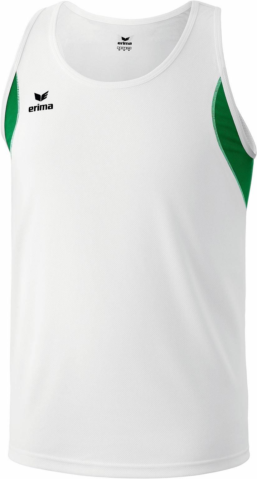 Erima - Canottiera junior da running, Bianco (Bianco/smeraldo), 164