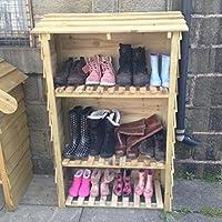 Wellington boot cupboard, shoe rack, outdoor storage, boot store, parcel store, 80cm x 35cm x 140cm