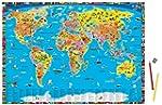 Illustrierte politische Weltkarte - S...
