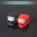 Set-di-4-Luce-Bicicletta-ZeWoo-LED-Luci-Bici-Illuminazione-Bicicletta-Set-Impermeabile-Non-Ricaricabile-Batterie-incluse