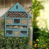 Home Garden Best Deals - WOODEN LARGE BLUE INSECT BUGS GARDEN HANGING HOTEL HOME BEES LADYBIRD NEST BOX HOUSE