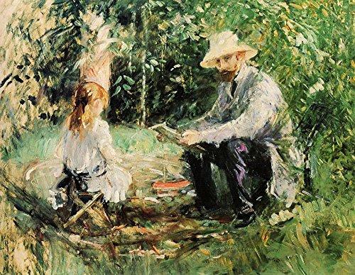 Das Museum Outlet-Eugene Manet und seine Tochter im Garten-1883-A3Poster