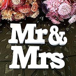 MR & MRS Letras de madera decoración