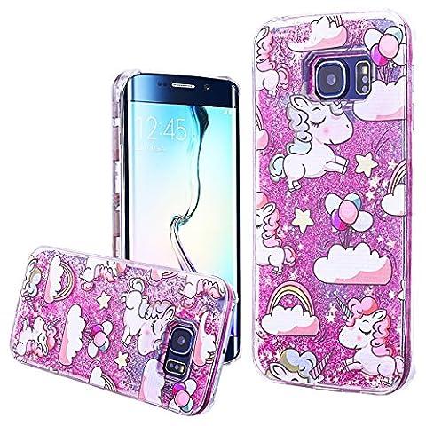 WE LOVE CASE Samsung S6 Edge Hülle Einhorn , Galaxy