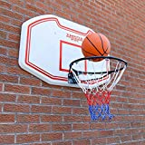 Wall Mounted Basketball Backboard Full Size Hoop Net Heavy Duty JumpStar