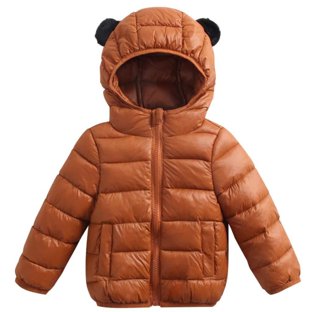 Minizone Kids Winter Jacket Hooded Down Coat Warm Waterproof Lightweight Tops Outfits