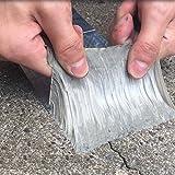 Hochwertiges Aluminium-Folie Butyl Gummi-Klebeband, wasserdicht, Versiegelung, selbstklebend, für Glas-Dach-Fenster-1Meter 3.28-ft 5 cm